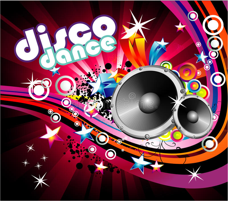 Fondo de la danza del disco ilustración del vector