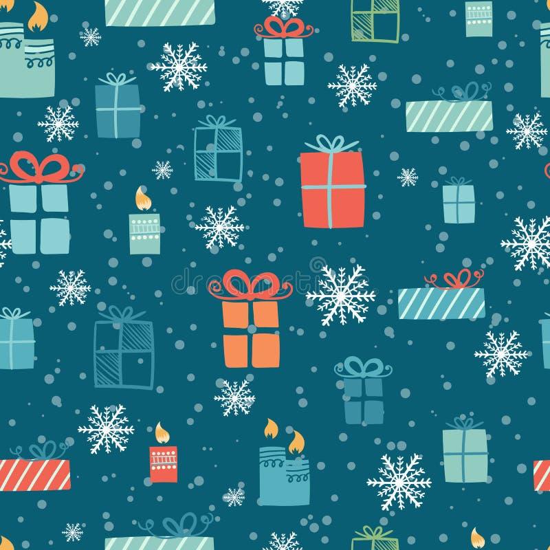 Fondo de la decoración de la Navidad stock de ilustración