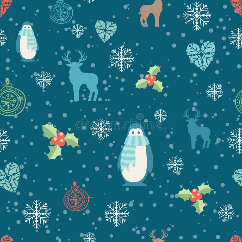 Fondo de la decoración de la Navidad libre illustration