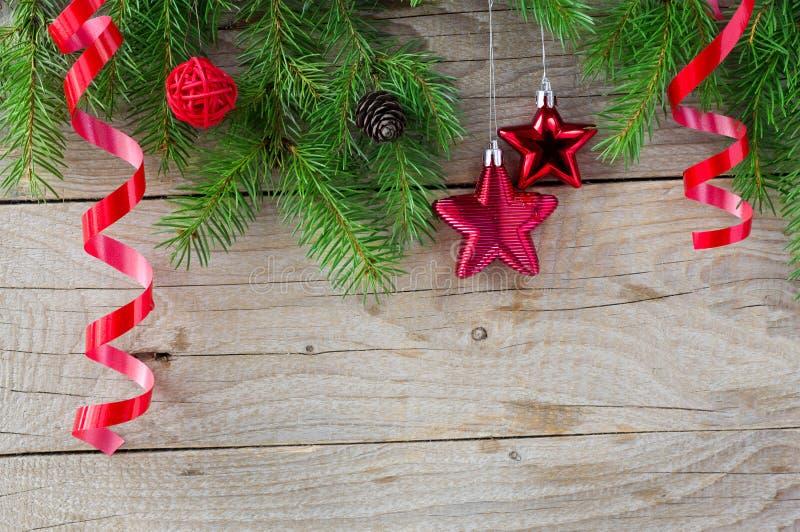 Fondo de la decoración de la Navidad fotografía de archivo libre de regalías