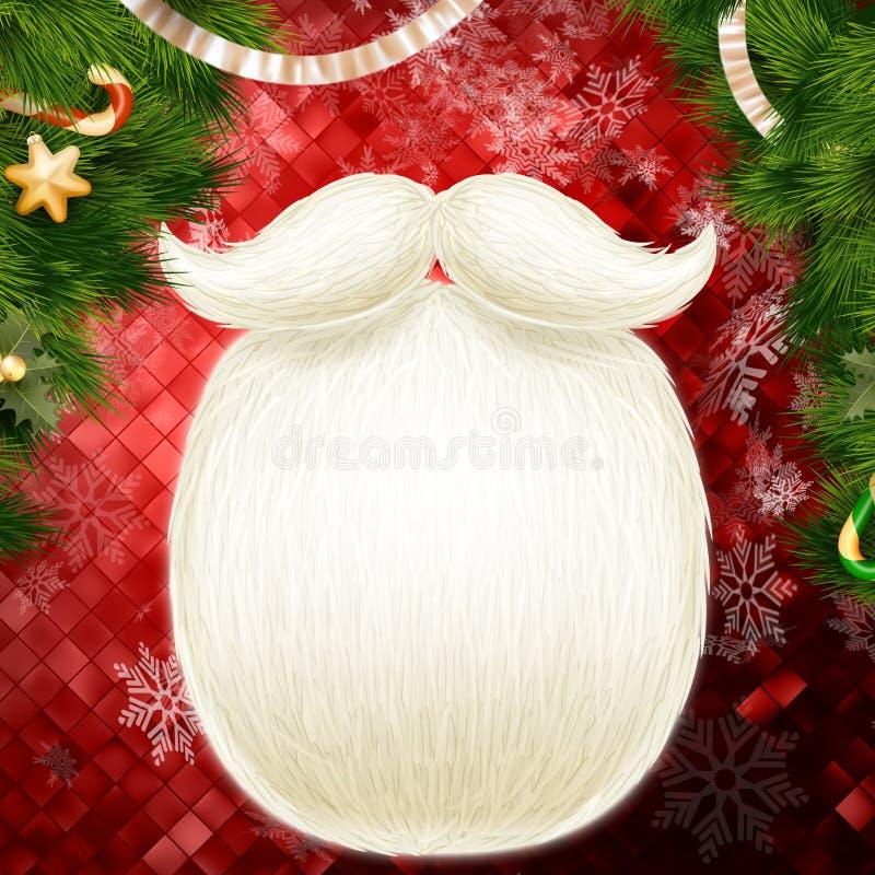 Fondo de la decoración de la Navidad EPS 10 stock de ilustración