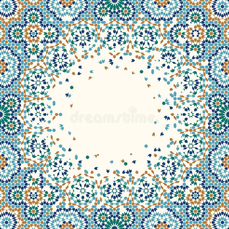 Fondo de la desintegración de Marruecos stock de ilustración