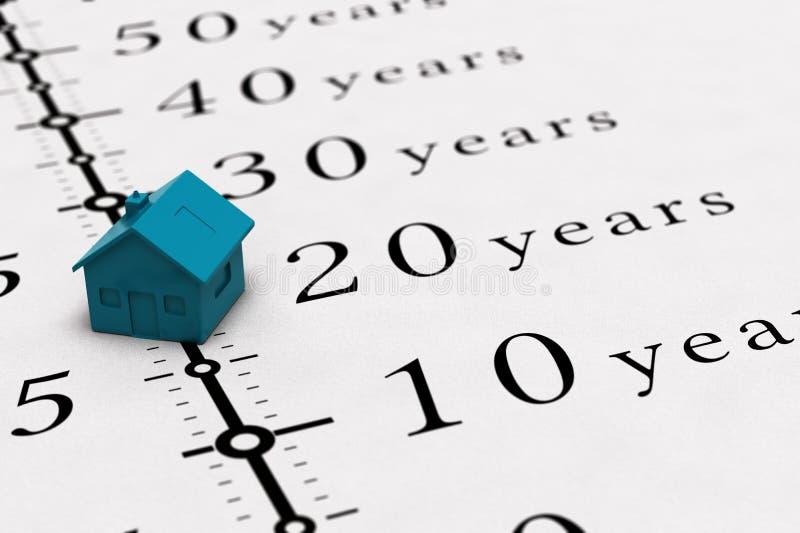 Fondo de la duración del préstamo de bienes raíces stock de ilustración