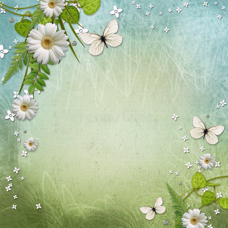 Fondo de la ecología con la margarita hermosa stock de ilustración