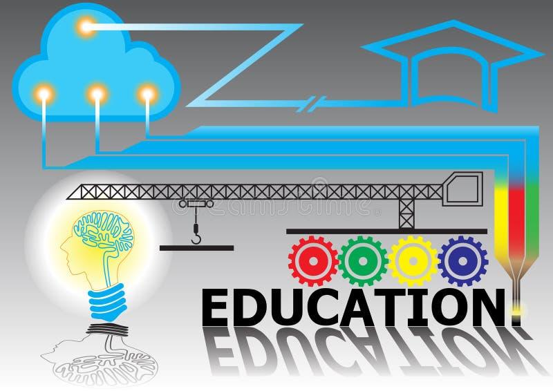 Fondo de la educación de la conexión de la tecnología libre illustration