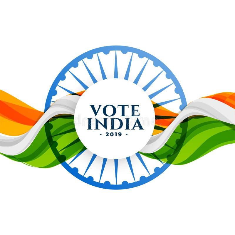 Fondo de la elección de la India del voto con la bandera libre illustration