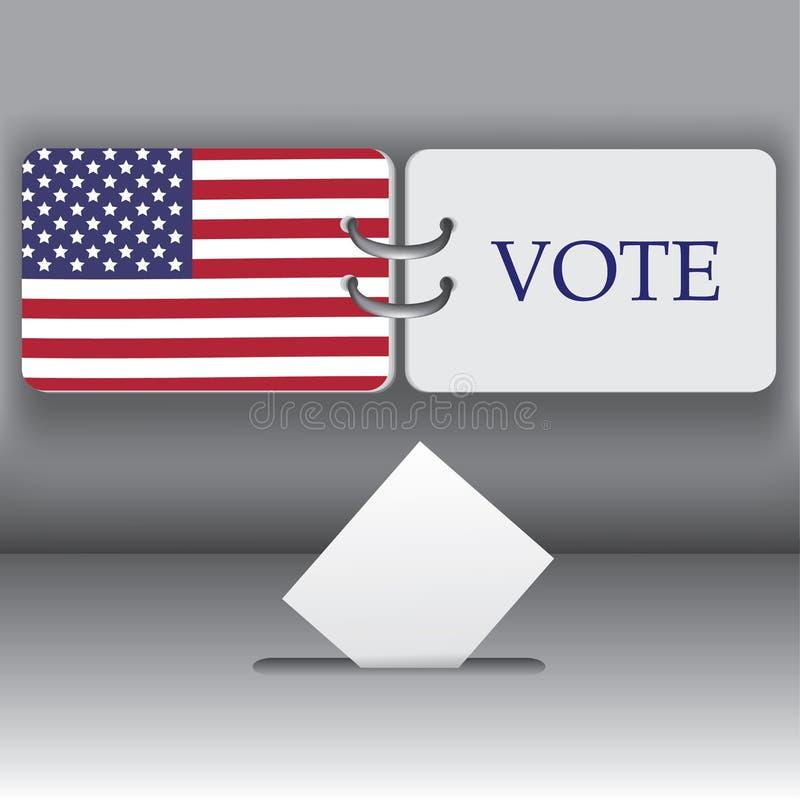 Fondo de la elección presidencial de los E.E.U.U. 2012 stock de ilustración