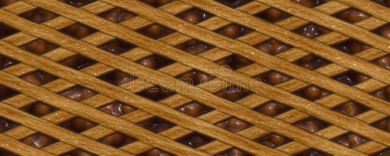 fondo de la empanada del chocolate del ejemplo 3d stock de ilustración