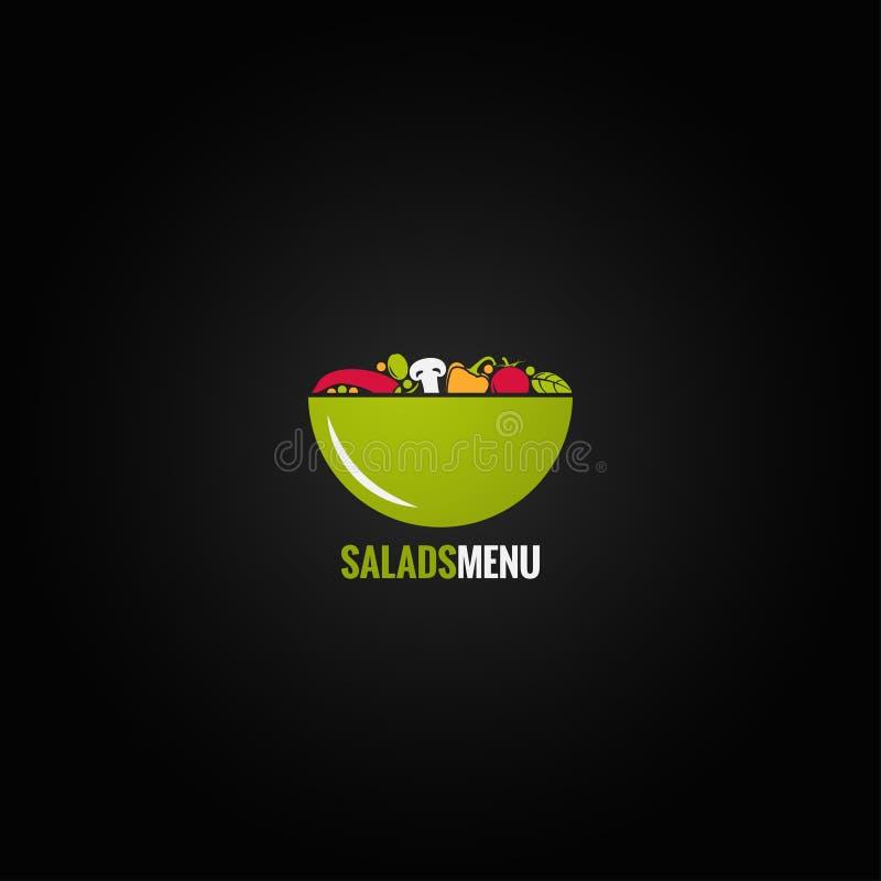 Fondo de la ensalada del diseño de las verduras libre illustration