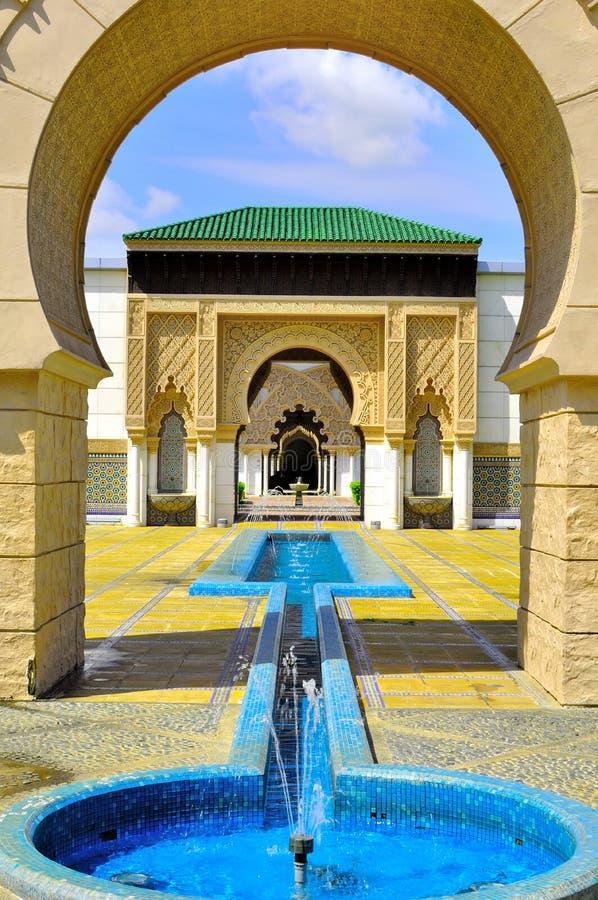 Fondo de la entrada marroquí de la puerta foto de archivo libre de regalías