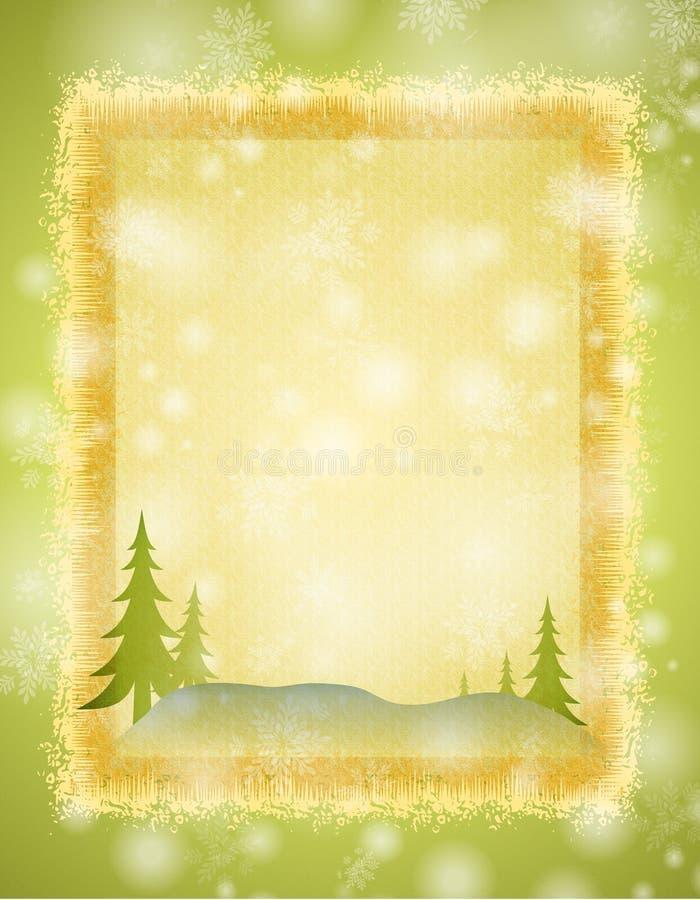 Fondo de la escena del invierno stock de ilustración