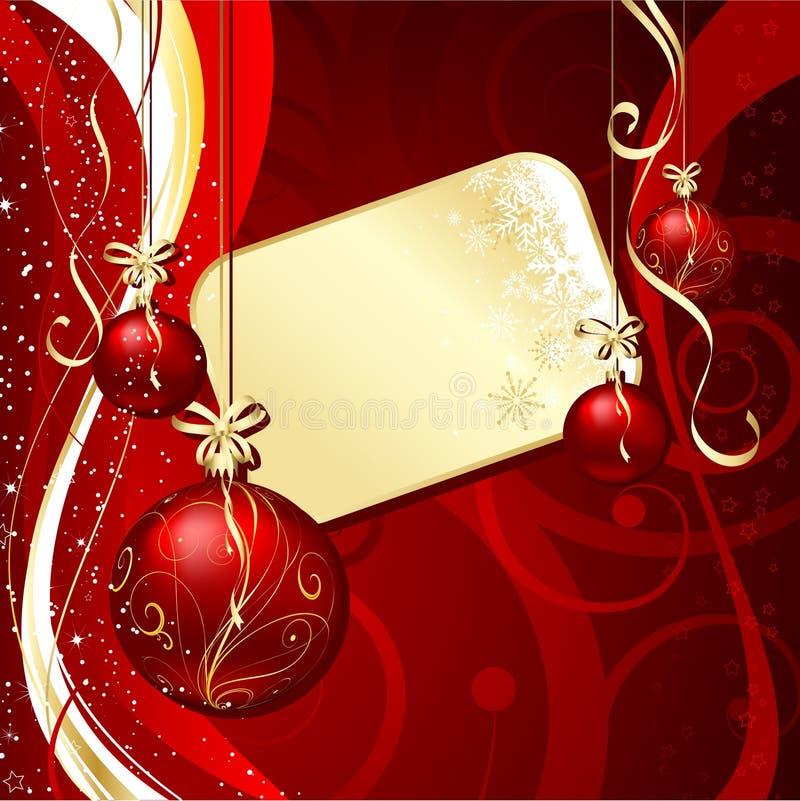 Fondo de la escritura de la etiqueta de la Navidad libre illustration