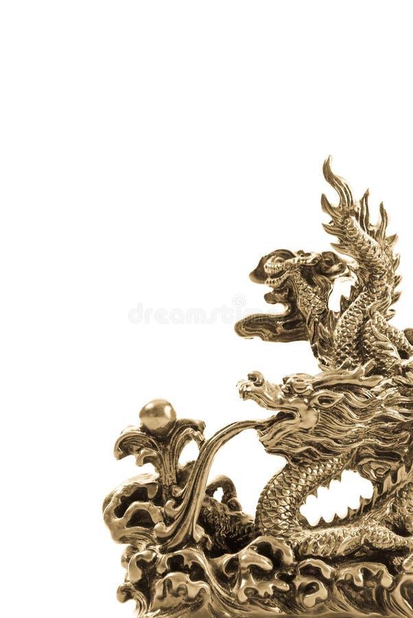 Fondo de la escultura del dragón imágenes de archivo libres de regalías