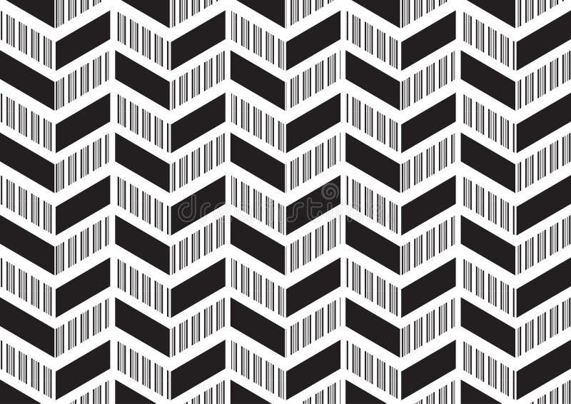 Fondo de la esquina abstracto del modelo del diseño moderno en tema blanco negro del color ilustración del vector