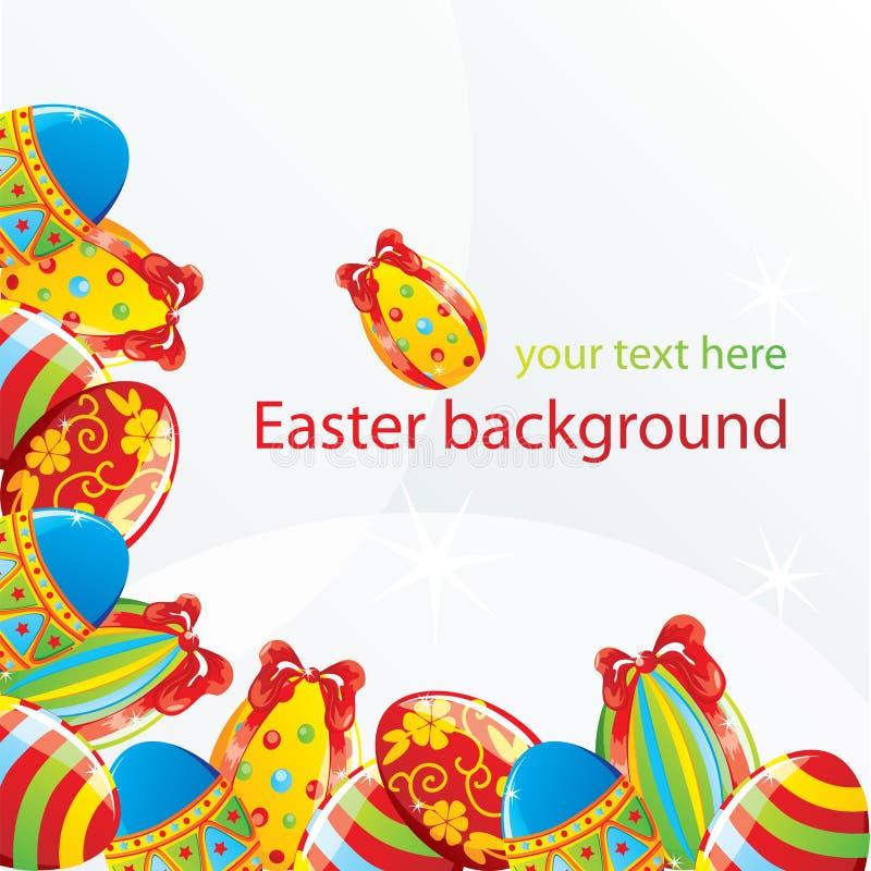 Fondo de la esquina de Pascua ilustración del vector