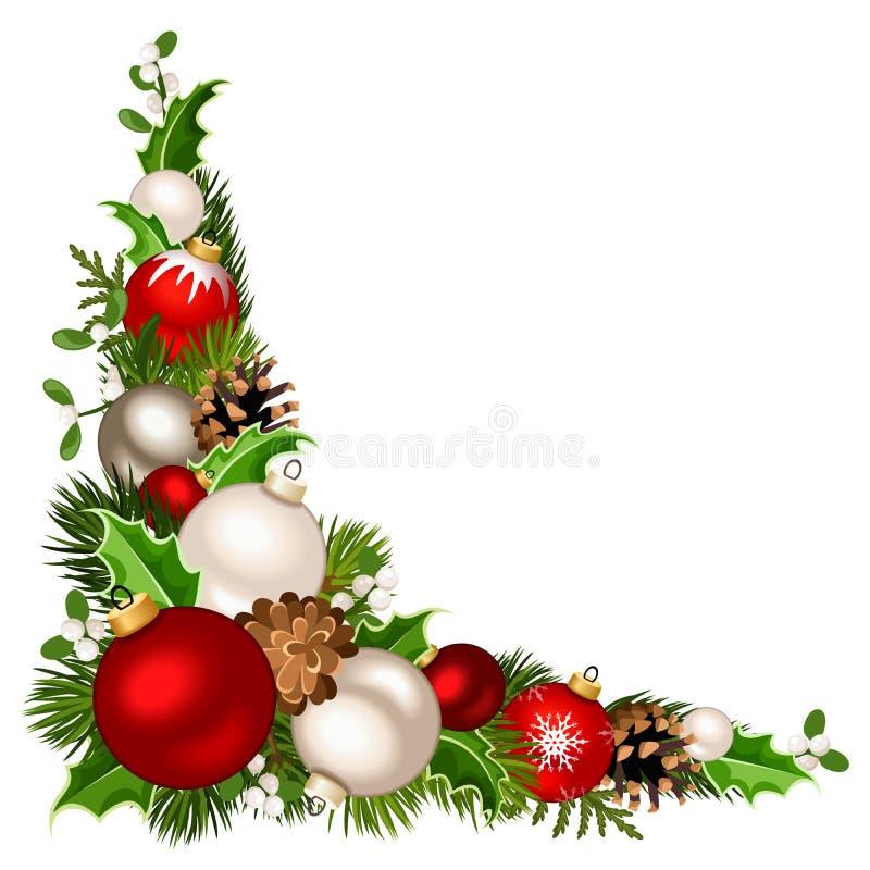 Fondo de la esquina decorativo de la Navidad Ilustración del vector stock de ilustración
