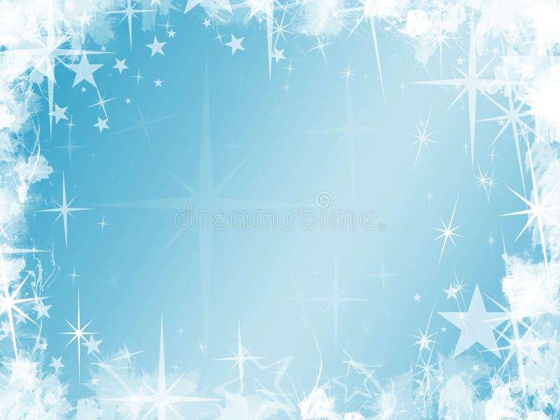 Fondo de la estrella azul de Grunge stock de ilustración