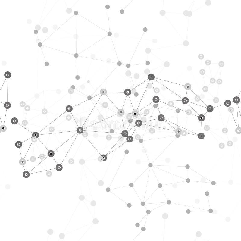 Fondo de la estructura de la molécula, modelo inconsútil ilustración del vector