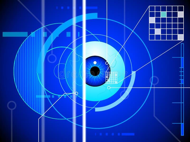 Fondo de la exploración de la retina ilustración del vector