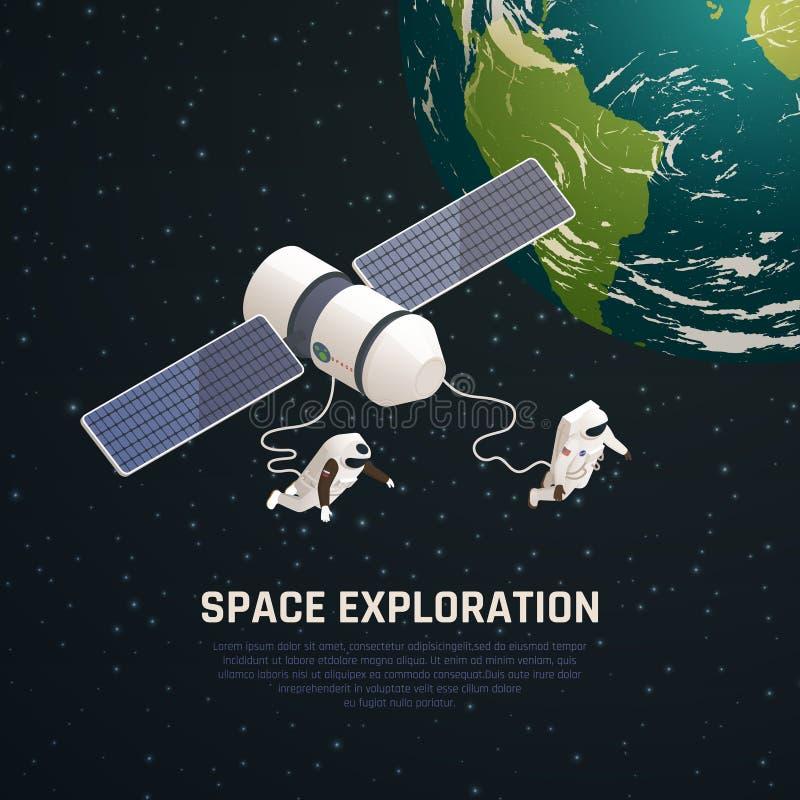 Fondo de la exploración espacial stock de ilustración