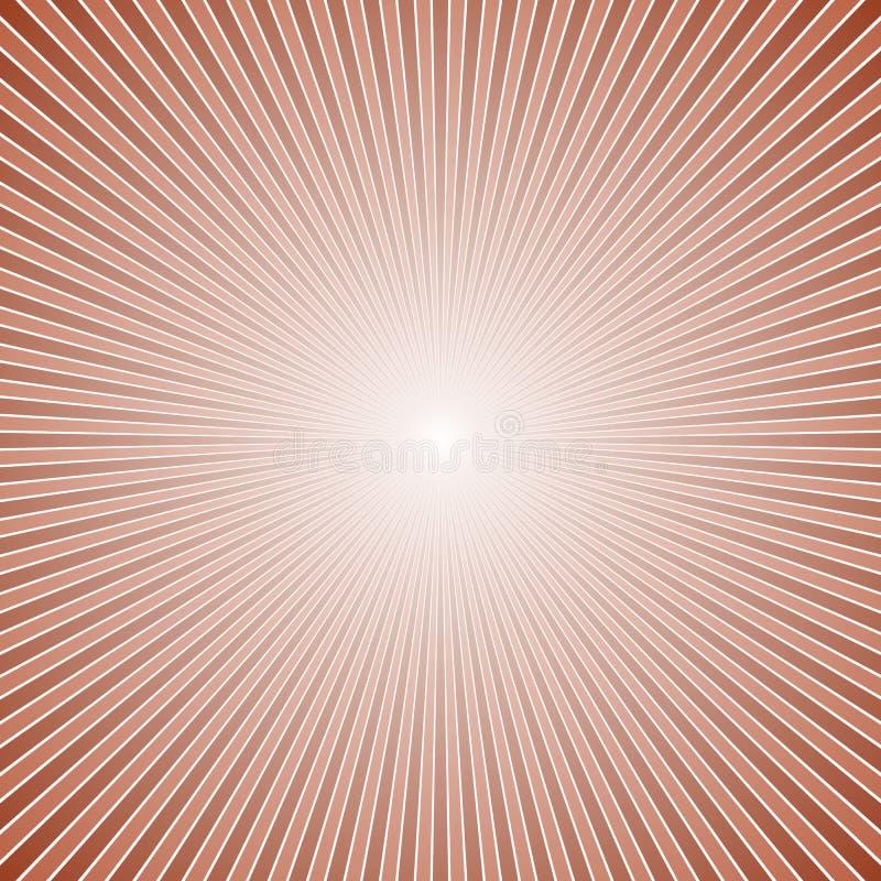 Fondo de la explosión de la estrella del extracto de la pendiente - diseño gráfico retro de vector stock de ilustración