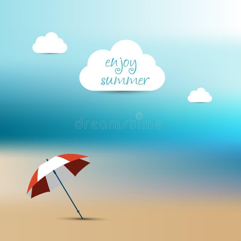 Download Fondo De La Falta De Definición Del Verano Playa De La Puesta Del Sol Con El Paraguas Rojo Ilustración del Vector - Ilustración de cubo, playa: 42443424