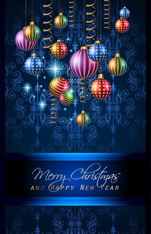 Fondo de la Feliz Año Nuevo 2016 para su cena de la Navidad stock de ilustración
