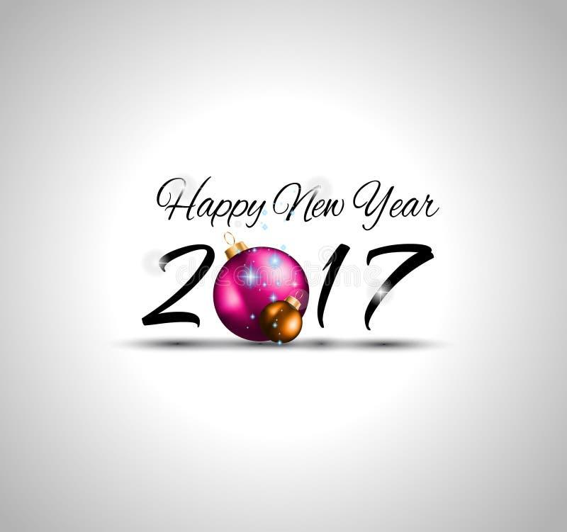 Fondo de la Feliz Año Nuevo 2017 para sus aviadores estacionales stock de ilustración
