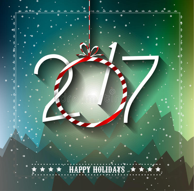 Fondo de la Feliz Año Nuevo 2017 para sus aviadores estacionales libre illustration