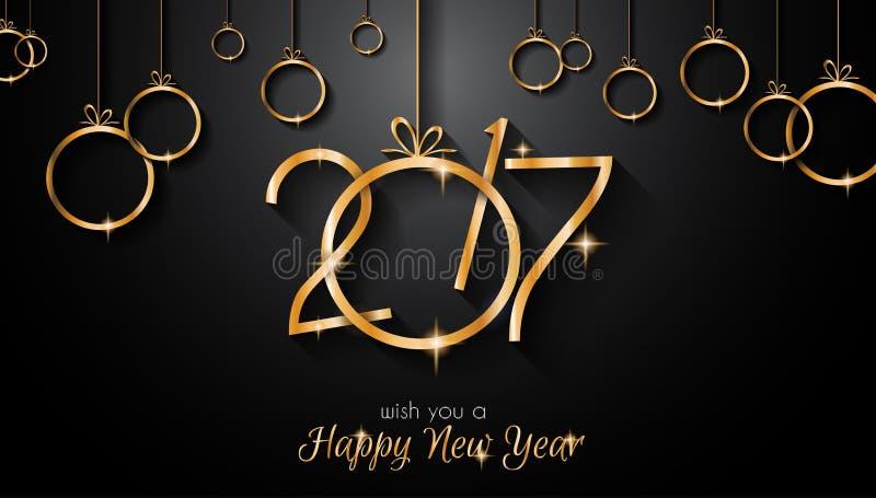 Fondo de la Feliz Año Nuevo 2017 para sus aviadores estacionales ilustración del vector