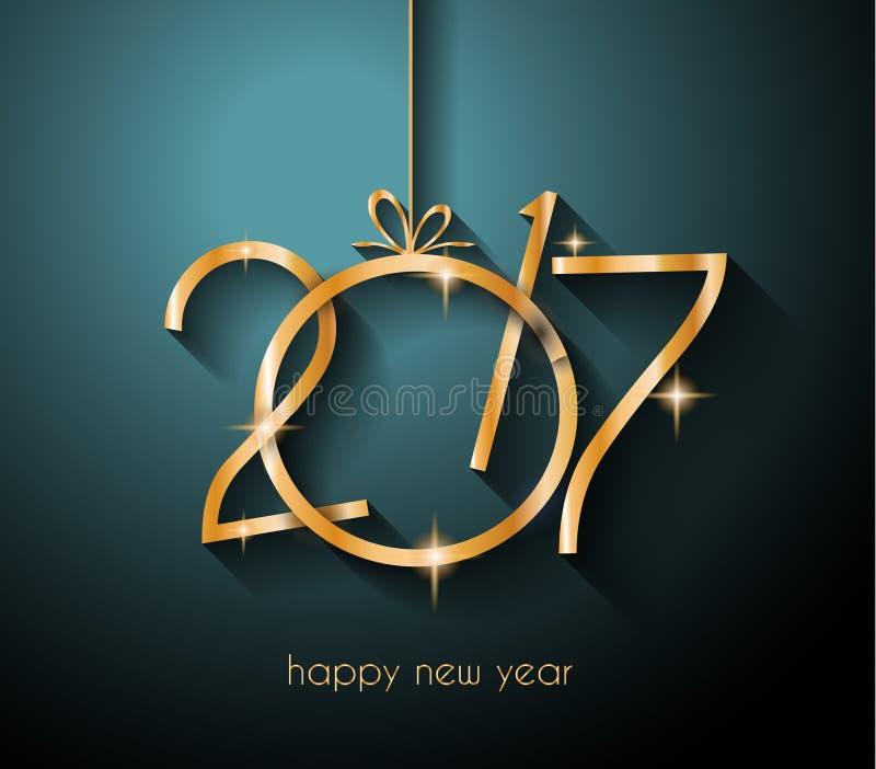 Fondo de la Feliz Año Nuevo 2016 para sus aviadores y tarjeta de felicitaciones ilustración del vector