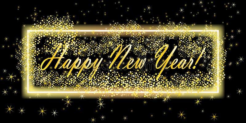 Fondo de la Feliz Año Nuevo Plantilla del diseño de la tarjeta de felicitación Ilustración del vector plantilla de la bandera ilustración del vector