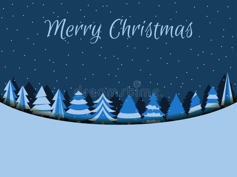 Fondo de la Feliz Navidad con los árboles de navidad Vector ilustración del vector