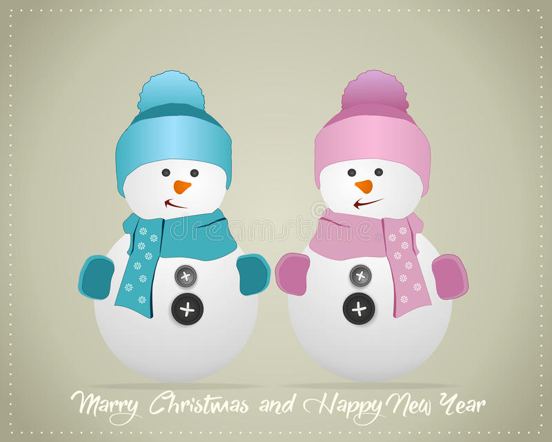 Fondo de la Feliz Navidad y de la Feliz Año Nuevo, stock de ilustración