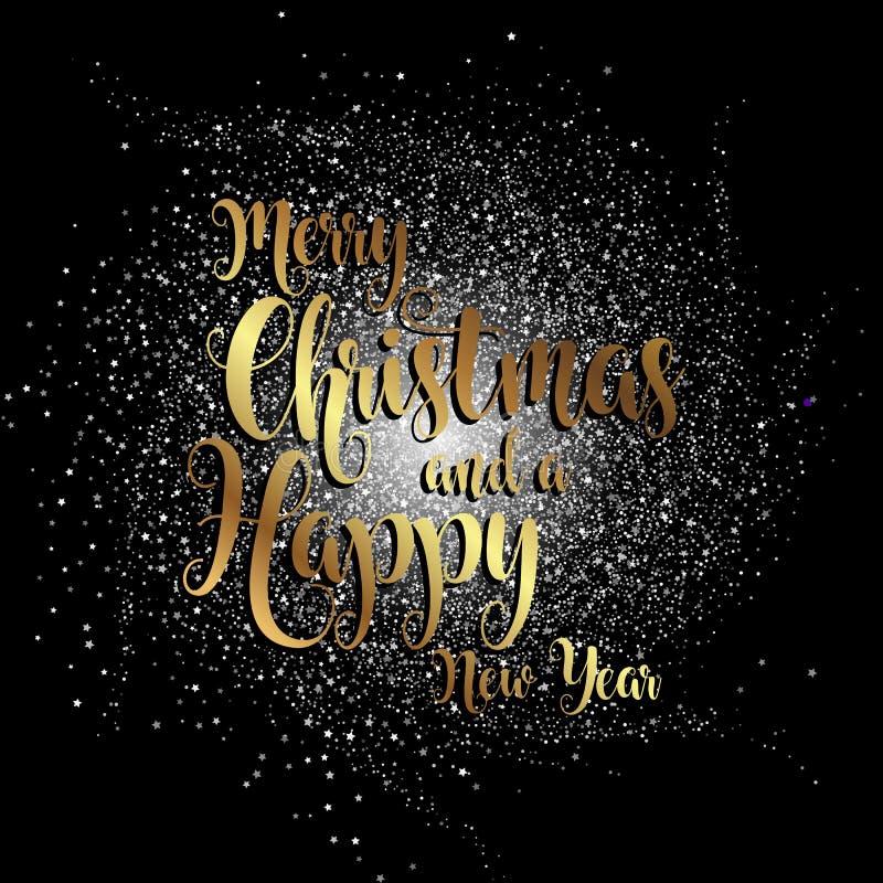 Fondo de la Feliz Navidad y del Año Nuevo libre illustration