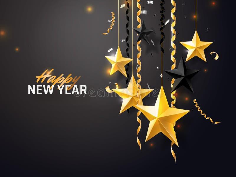 Fondo de la Feliz Navidad y del Año Nuevo 2018 para la tarjeta de felicitación del día de fiesta, invitación, aviador del partido libre illustration