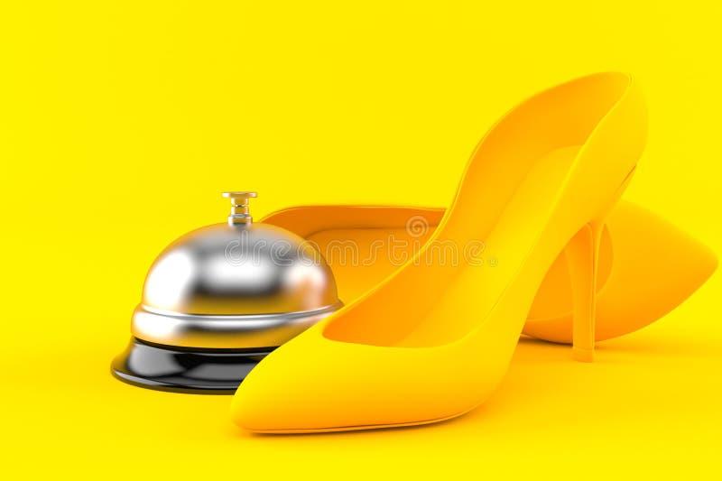 Fondo de la feminidad con la campana del hotel libre illustration