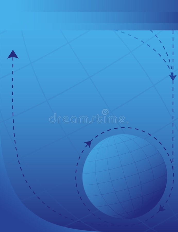 Fondo de la flecha del asunto global libre illustration