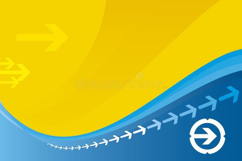 Fondo de la flecha (vector) ilustración del vector