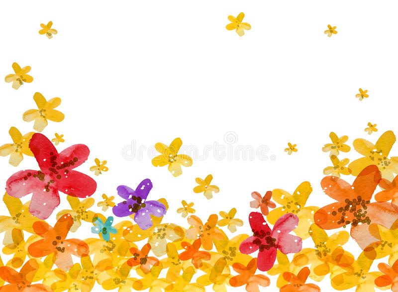 Fondo de la flor stock de ilustración