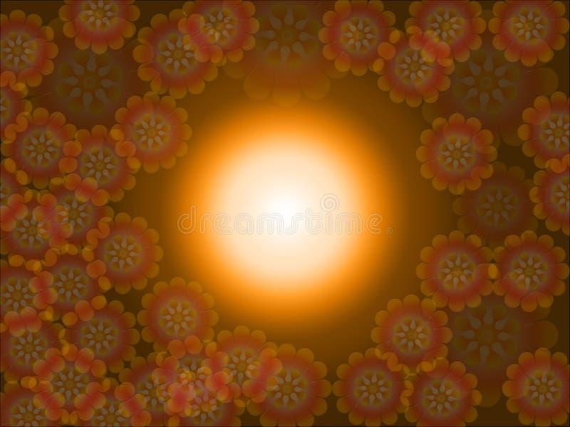 Download Fondo de la flor stock de ilustración. Ilustración de anaranjado - 7281984