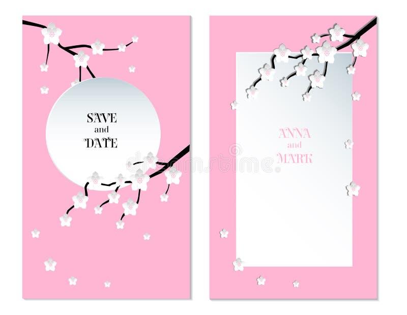 Fondo de la flor de cerezo de Sakura Tarjeta del d?a de fiesta libre illustration