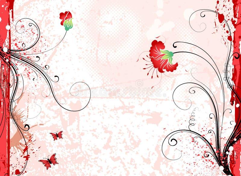 Fondo de la flor de Grunge stock de ilustración