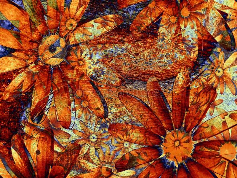 Fondo de la flor de Grunge del arte fotografía de archivo libre de regalías