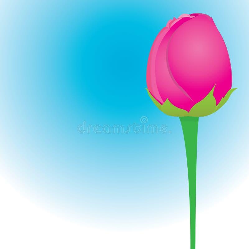 Fondo de la flor de la rosa del rojo del vector. libre illustration