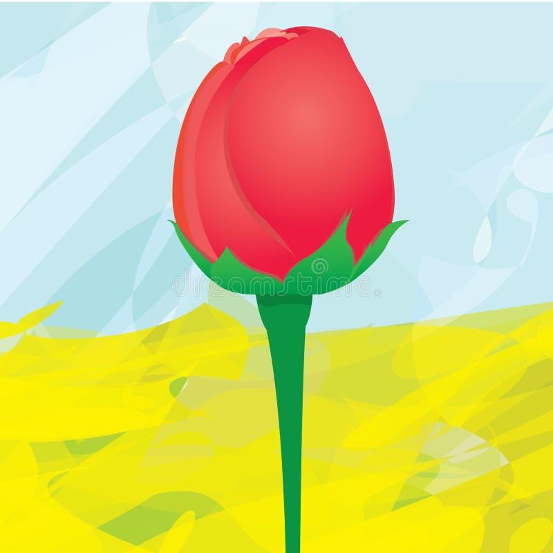 Fondo de la flor de la rosa del rojo del vector. stock de ilustración
