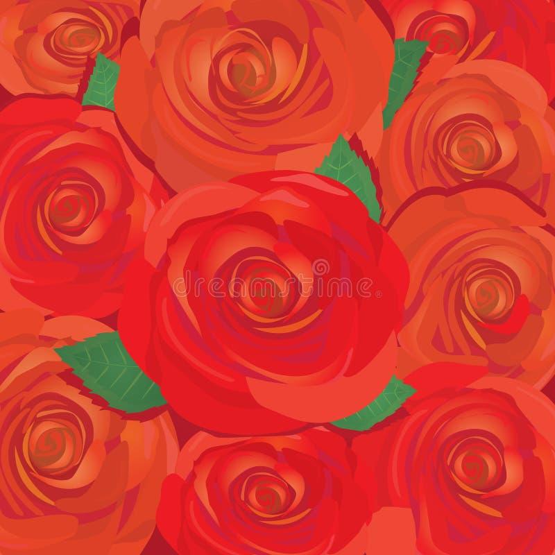 Fondo de la flor de la rosa del rojo del vector. ilustración del vector