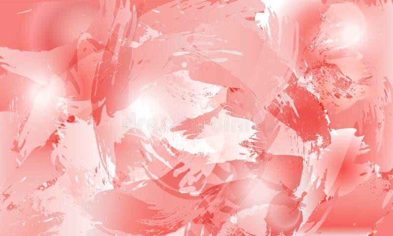 fondo de la flor del chapoteo en tintes color de rosa stock de ilustración