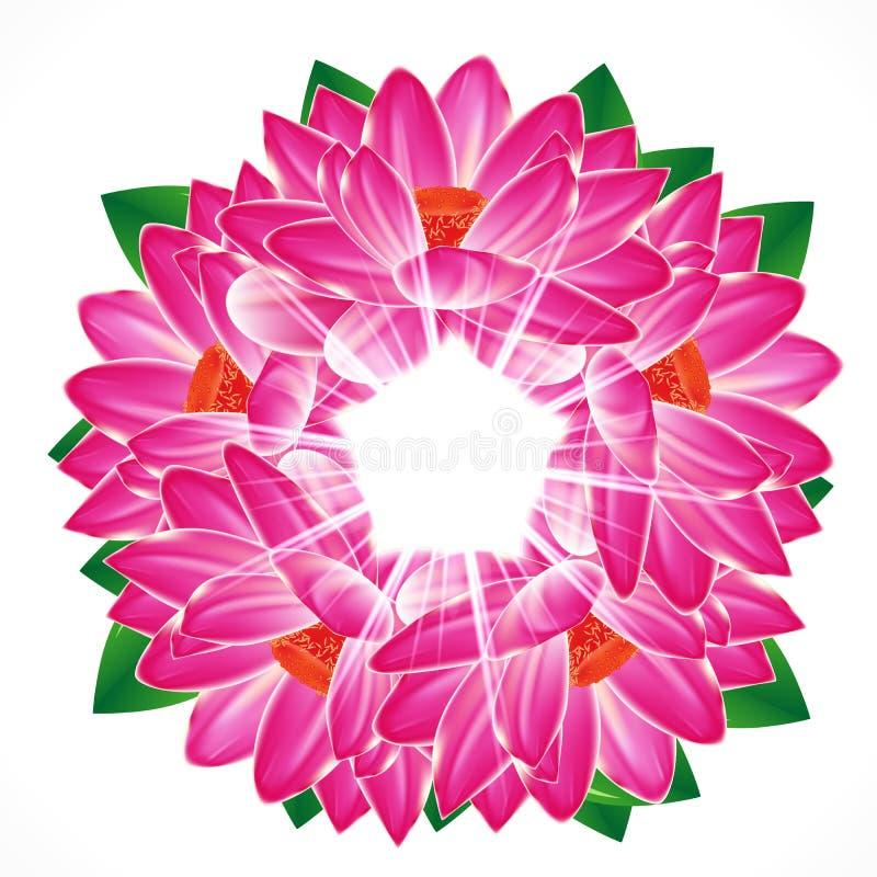 Fondo de la flor del lirio de agua libre illustration