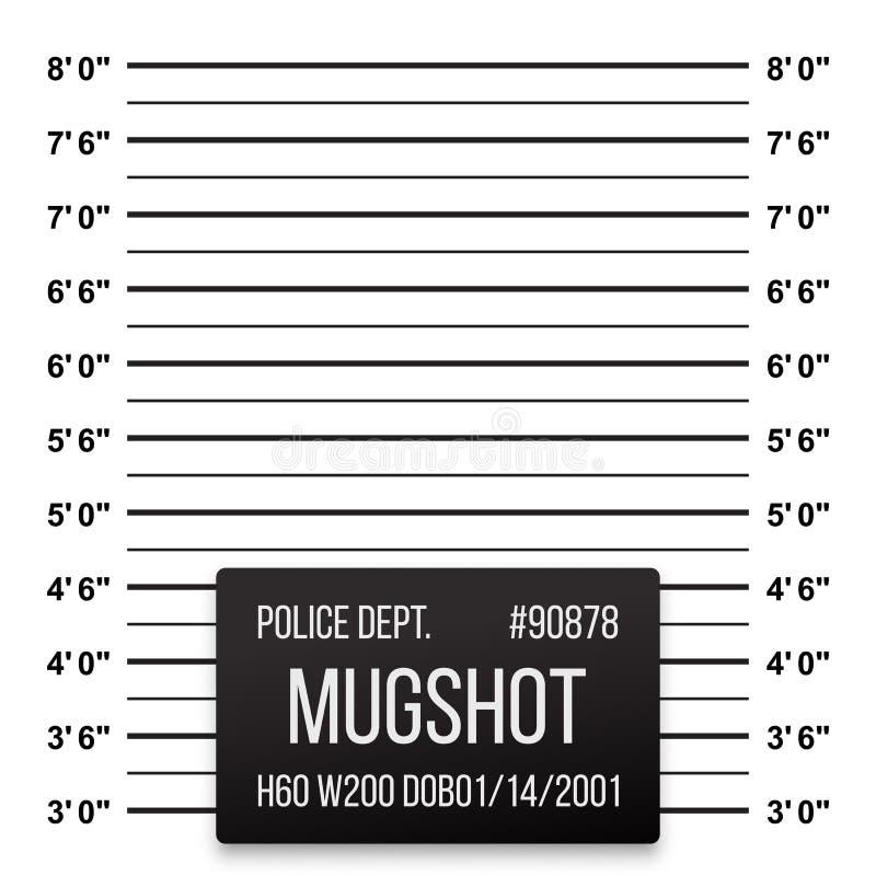 Fondo de la formación del vector de la fotografía de detenido de la policía stock de ilustración